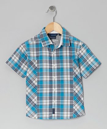 Blue Fabiann Button-Up - Toddler & Boys