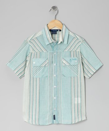 Teal Jule Button-Up - Toddler & Boys