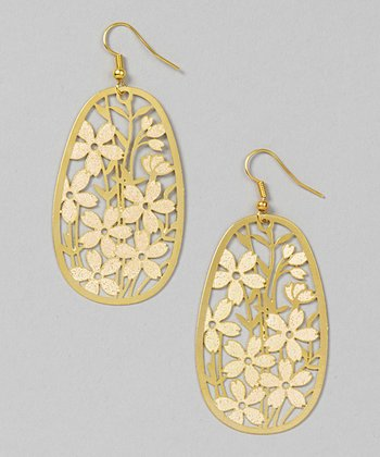 Gold Filigree Flowers Earrings