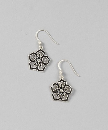 Silver & Black Tyra Earrings