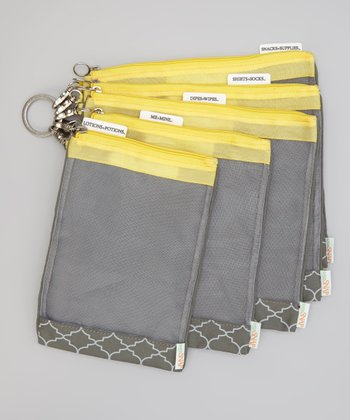 Gray & Yellow Cooper Diaper Bag Organizer