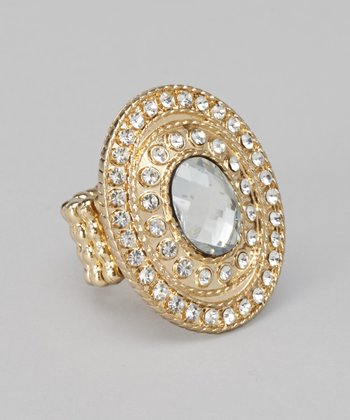 Antique Gold Oval Ring