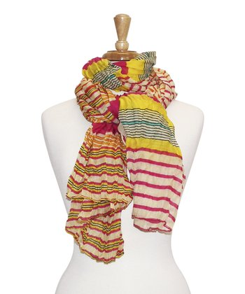 Pink Stripe Bright Scarf