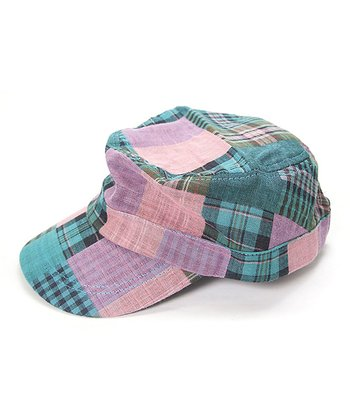 Pink & Green Plaid Cadet Hat