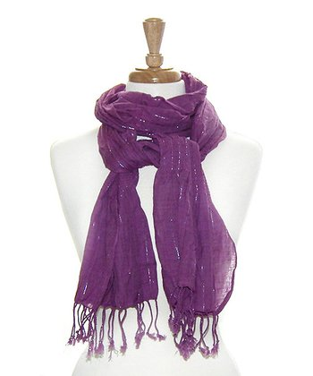 Purple Sparkle Bunch Scarf