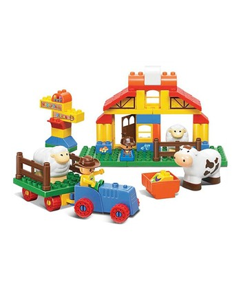 Big Blocks Happy Farm 47-Piece Block Set