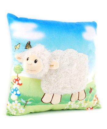 Blue 3-D Farm Sheep Pillow