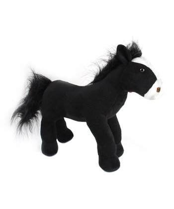 Black Horse Plush Toy