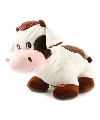 Brown & White Cow Plush Toy