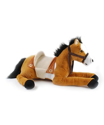 Light Brown Sitting Horse Plush Toy