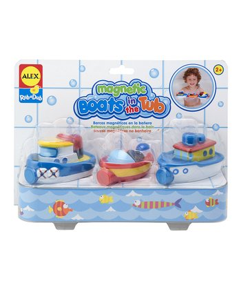 Magnetic Boats in the Tub Set