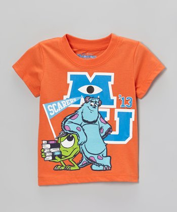 Orange 'm' Monsters Inc. Tee - Toddler