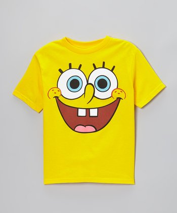 Yellow SpongeBob Face Tee - Toddler & Kids