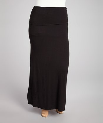 Black Maxi Skirt- Plus