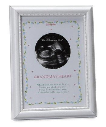 The Grandparent Gift Co. White 'Grandma's Heart' Ultrasound Frame