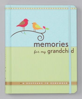 Peter Pauper Press Blue & Green 'Memories for my Grandchild' Keepsake Journal