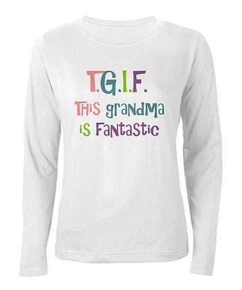 CafePress White 'This Grandma is Fantastic' Tee - Women