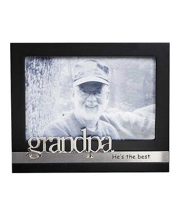 GANZ Black & Silver 'Grandpa He's the Best' Frame