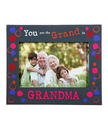 GANZ Black 'You Put the Grand in Grandma' Frame