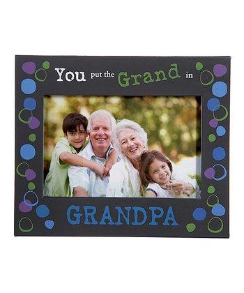 GANZ Black 'You Put the Grand in Grandpa' Frame