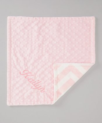 Pink Personalized Minky Security Blanket