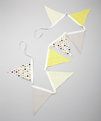 Yellow & Gray Flag Bunting