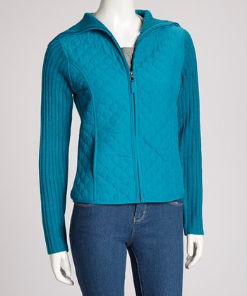Peacock Quilted Hooded Jacket