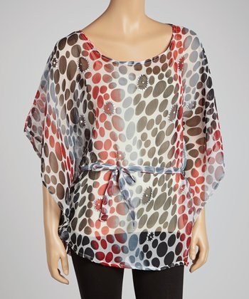 Red Dot Embellished Tunic