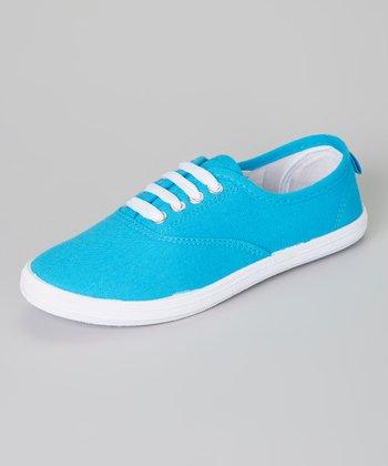 Teal & White Sneaker