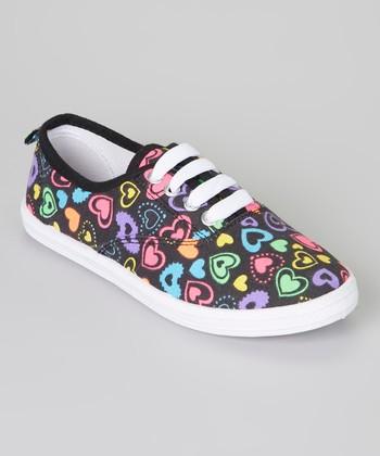 Black & Pink Heart Sneaker