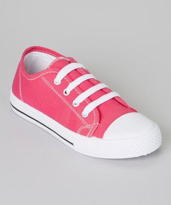 Hot Pink & White Shell-Toe Sneaker
