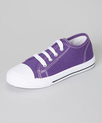 Purple & White Shell-Toe Sneaker