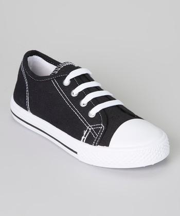 Black & White Shell-Toe Sneaker