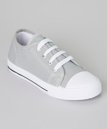Gray & White Shell-Toe Sneaker