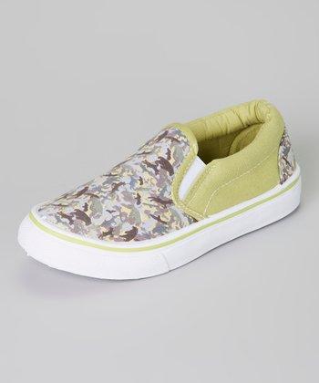 Green & Gray Camo Slip-On Sneaker