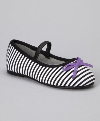 Black Stripe Ballet Flat