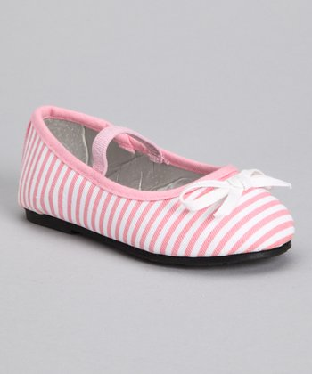 Light Pink Stripe Ballet Flat
