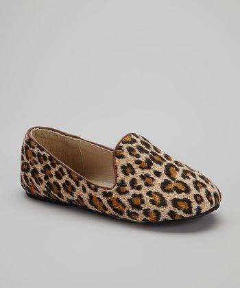Chatties Beige & Brown Leopard Tuxedo Flat