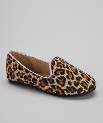 Chatties Beige & Pink Leopard Tuxedo Flat
