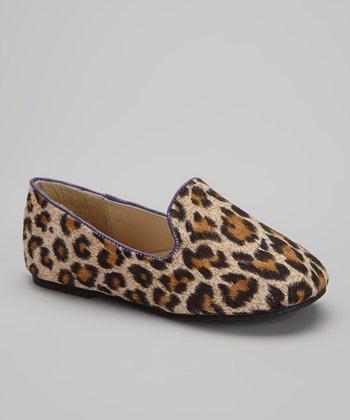 Chatties Beige & Purple Leopard Tuxedo Flat