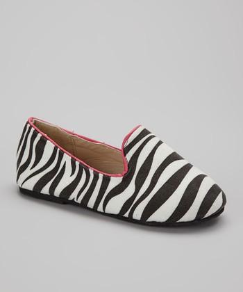 Chatties Black & Fuchsia Zebra Tuxedo Flat