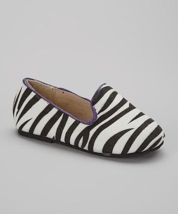 Chatties Black & Purple Zebra Tuxedo Flat