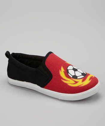 Red Soccer Slip-On Sneaker