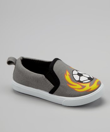 Gray Soccer Slip-On Sneaker
