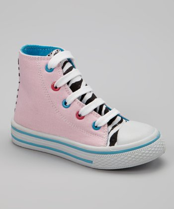 Light Pink Zebra Hi-Top Sneaker