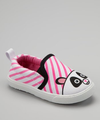 White Panda Slip-On Sneaker