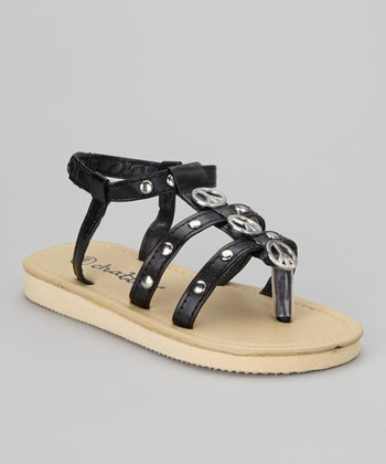 Black Peace Sandal