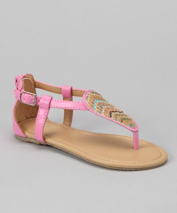 Chatties Light Pink Chevron Sandal