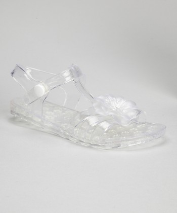Clear Flower Jelly Sandal