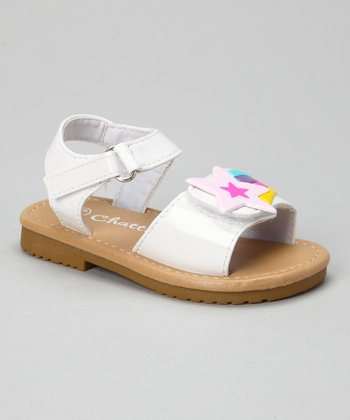 White Patent Shooting Star Sandal